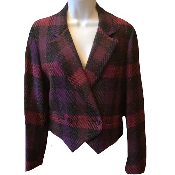 Vintage Christian Dior Wool Blazer Petite Size 12